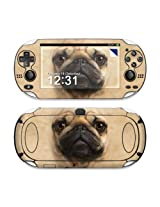 Pug Design Protective Decal Skin Sticker (Matte Satin Coating) For Sony Playstation Ps Vita Handheld