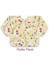 Bumkins Sleeved Bib - Flutter Floral