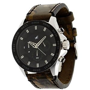 Fastrack Chrono Upgrade Chronograph Black Dial Men's Watch - 3072SL09