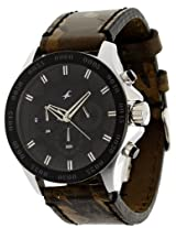 Fastrack Chrono Upgrade Chronograph Black Dial Men's Watch - 3072SL09