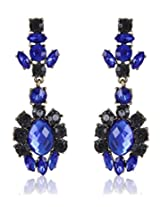 Cinderella Collection by Shining Diva Gray & Blue Crystal Hanging Earrings for Women 6982er