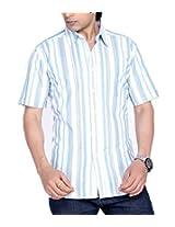 Moksh Men's Striped Casual Shirt V2IMS0414-13 (Large)