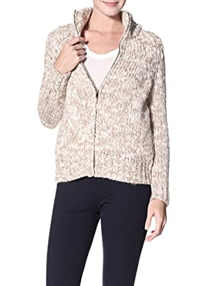 Shae Women's Zip-Front Sweater (Mineral)