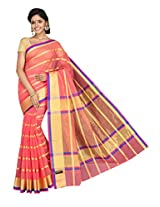 Korni Cotton Silk Banarasi Saree MKS-675- Pink KR0428