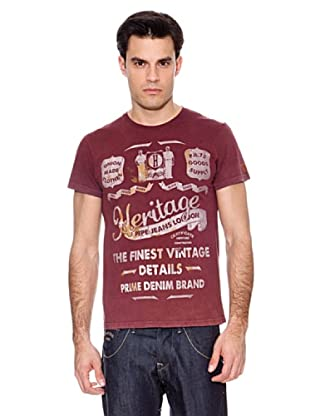 Pepe Jeans T-Shirt Iden (Weinrot)
