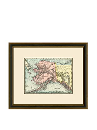 Antique Lithographic Map of Alaska, 1886-1899
