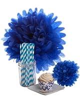 Dress My Cupcake Dessert Table Party Bundle, Mini, Royal Blue Filigree
