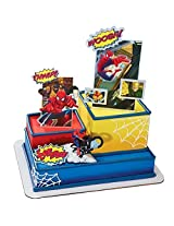 Deco Pac Spider Man Motorcycle Signature Deco Set Cake Topper By Deco Pac