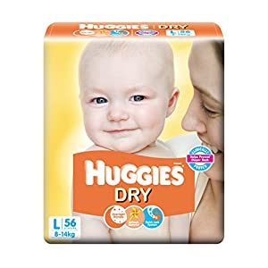 Huggies Dry Diapers Large Size (56 Count)