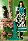 Bhagyashree Black Colour Pure Georgette Bollywood Style Salwar Kameez