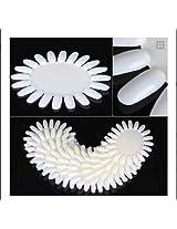 Jovana 20 pcs white Acrylic Wheel False Nail Art Tips Practice Display Nail Art Tool