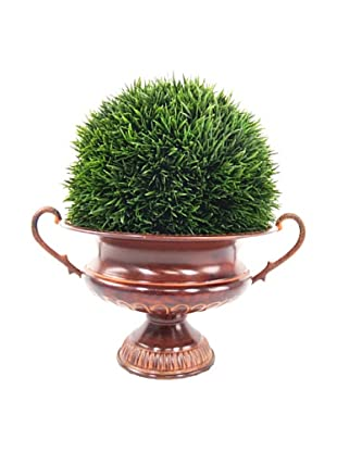 Creative Displays Grass Ball in Metal Urn