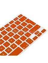 "2010kharido Silicone Compact Keyboard Skin Guard Cover Apple Macbook 13"" 15"" 17"" Air/Pro/New Pro Retina Orange"