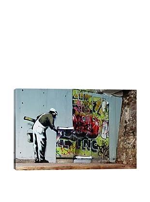 Banksy Graffiti Wallpaper Hanging Giclée Canvas Print