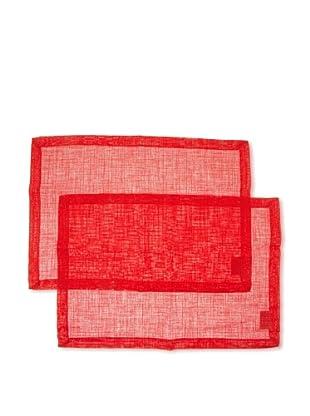 Villeroy & Boch Pack 2 manteles ondividuales lino rojo