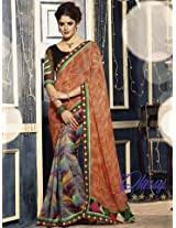 Designer Embroidered Multi Saree