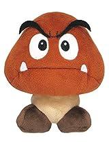 """Sanei Super Mario All Star Collection 5"""" Goomba Plush, Small"""