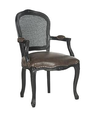 Safavieh Mckenna Arm Chair, Antique Brown