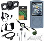 10 Pieces Premium Sony Walkman Accessories Combo Bundle Pack: Clear/White Silicone Skin Case USB 2in1 Data Sync Cable Car Charger Wall / Travel / AC Charger Portable Foldable Speaker Dock Lanyard Screen Protector 3.5mm~3.5mm Retractable Audio cable 3.5mm White In-Ear Stereo Headset Fishbone style Keychain for Sony S Series NWZ-S764 8GB MP3 Player Walkman Video MP3 Player
