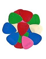 40 Picks - Delrin Teardrop Shape Guitar Picks (Random Color) By Bufferman