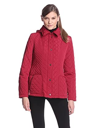 Calvin Klein Women's Quilted Jacket (Red)
