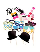 36pcs Colorful Props on a Stick Mustache Photo Booth Party Fun Wedding Christmas Birthday Favor