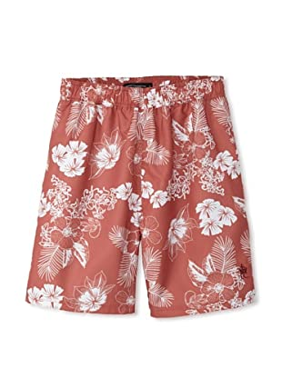 French Connection Men's Lagoon Swim Trunks (Dusty Blood)