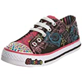 Skechers Junior Limelights Cool Beats Black Canvas/hot Pink & Multi Trim Lighted Trainer 10174l 2 Uk