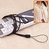 スリムレザー携帯ネックストラップ(ブラウン)