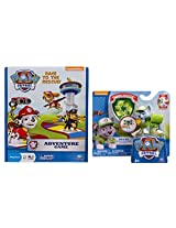 Paw Patrol Adventure Game With Action Pack Pup & Badge Rocky