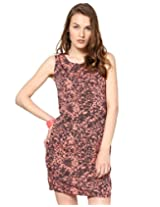 Abiti Bella Women's Dress (ABDR0704_Orange_Medium)