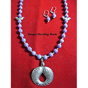 Unique Dazzling Beads Alluring Purple Necklace
