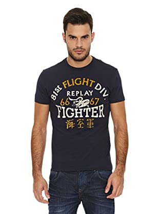 Replay Camiseta MC Letras (Azul Marino)