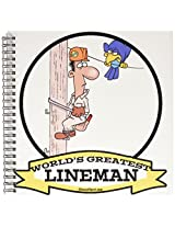 3dRose db_103318_1 Funny Worlds Greatest Lineman Cartoon-Drawing Book, 8 by 8-Inch