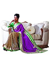 sareez Beige & Magenta Color Jacquard With Chffon Saree.