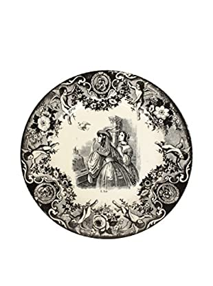 Boch Decorative Plate, Black/White