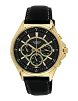 Casio Enticer  Analog Black Dial Men's Watch - MTP-E303GL-1AVDF( A963)