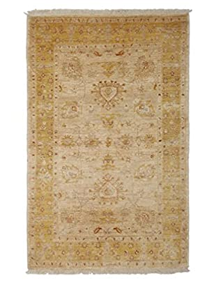 Darya Rugs Traditional Oriental Rug, Light Blue, 4' 1
