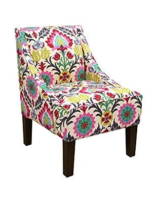 Skyline Furniture Swoop Arm Chair, Santa Maria Desert Flower