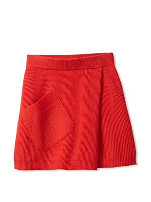 Sonia Rykiel Girl's Wool Knit Skirt with Pocket (Red)