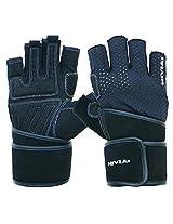 Nivia Snipper Gym gloves, Medium (Black)