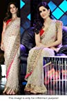 Bollywood Replica Katrina Net Saree In Off White Colour NC63