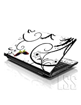 LSS 15 15.6 inch Laptop Notebook Skin Sticker Cover Art Decal Fits 13.3 14 15.6 16 HP Dell Lenovo Apple Asus Acer Compaq (Free 2 Wrist Pad Included) White Butterfly Escape