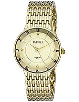 August Steiner Women's AS8178YG Analog Display Japanese Quartz Gold Watch