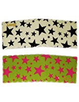 iOna Beauty Essentials Woman Tic Tac STARS Type Beauty Hair Pins White n Green 2