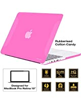 AirPlus-Retina 13-inch Neon Series satin finish Hard Case Shell Cover for Apple MacBook Pro 13.3 with Retina Display [Cotton Candy (Pink)]