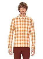Ben Shermann Camisa Cuadros Phoenix (Naranja / Beige)