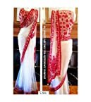Net Embroidered White Bollywood Style Saree - PO5286RC17