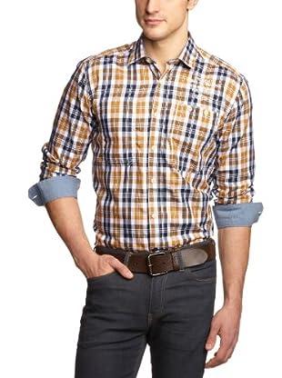 JACK & JONES Camisa (Azul / Marrón)