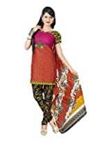 Sonal Trendz Women's Cotton Multi Printed Dress Material